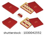 3d chinese moon cake package... | Shutterstock .eps vector #1030042552