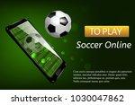 soccer football mobile live... | Shutterstock .eps vector #1030047862