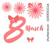 greeting card for march 8.... | Shutterstock .eps vector #1030052116