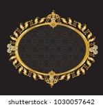 vintage victorian golden mirror ... | Shutterstock .eps vector #1030057642