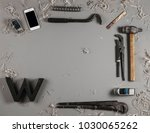 joiner items on gray background.... | Shutterstock . vector #1030065262