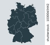 germany map on gray background... | Shutterstock .eps vector #1030065442
