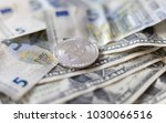 bitcoin with dollar and euro... | Shutterstock . vector #1030066516
