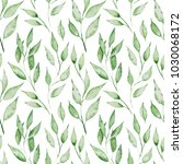 seamless pattern with green... | Shutterstock . vector #1030068172