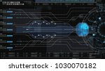 hi tech user interface head up... | Shutterstock . vector #1030070182