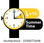 summer time. daylight saving... | Shutterstock .eps vector #1030072648