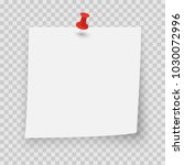 curved white sticky note with... | Shutterstock .eps vector #1030072996
