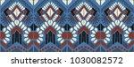 ikat geometric folklore... | Shutterstock .eps vector #1030082572
