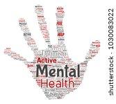 vector conceptual mental health ... | Shutterstock .eps vector #1030083022