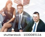 portrait of successful business ... | Shutterstock . vector #1030085116