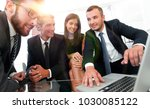 closeup.business team working... | Shutterstock . vector #1030085122
