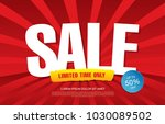 sale banner layout design | Shutterstock .eps vector #1030089502