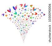 multicolored yacht burst...   Shutterstock .eps vector #1030090006