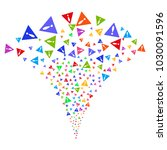 multi colored warning fireworks ...   Shutterstock .eps vector #1030091596