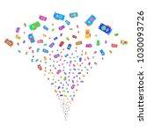 multicolored video gpu card...   Shutterstock .eps vector #1030093726