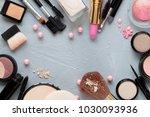 crushed decorative cosmetics | Shutterstock . vector #1030093936