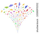 multicolored ufo fireworks...   Shutterstock .eps vector #1030095352