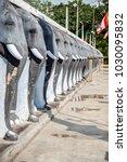 mahatupa big dagoba elephant... | Shutterstock . vector #1030095832