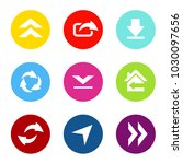 vector set of shared arrows...   Shutterstock .eps vector #1030097656