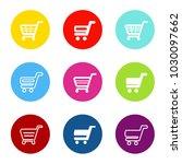 vector simple shopping cart ... | Shutterstock .eps vector #1030097662