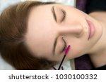 eyelash care treatment...   Shutterstock . vector #1030100332