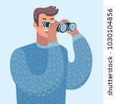 vector cartoon illustration of... | Shutterstock .eps vector #1030104856