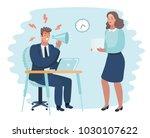 vector cartoon illustration of... | Shutterstock .eps vector #1030107622
