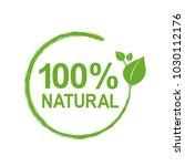 100  natural logo symbol ... | Shutterstock .eps vector #1030112176