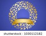 st patrick's day card. golden... | Shutterstock .eps vector #1030112182