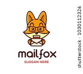 fox and mail logo concept  a... | Shutterstock .eps vector #1030112326