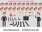 flat vector guy character for... | Shutterstock .eps vector #1030116118