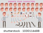 flat vector guy character for... | Shutterstock .eps vector #1030116688