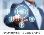 human resources hr management... | Shutterstock . vector #1030117348