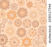 ornate floral seamless texture  ... | Shutterstock .eps vector #1030117546