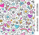 seamless pattern rainbow...   Shutterstock .eps vector #103011866