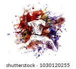 vector color illustration of a... | Shutterstock .eps vector #1030120255