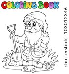 coloring book cartoon garden... | Shutterstock .eps vector #103012346