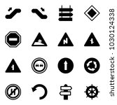 solid vector icon set  ... | Shutterstock .eps vector #1030124338