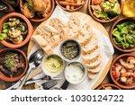 delicious rustic dips aioli... | Shutterstock . vector #1030124722