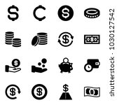 solid vector icon set   dollar... | Shutterstock .eps vector #1030127542