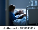 worried caregiver supporting... | Shutterstock . vector #1030133815