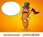 bavarian sausage with germany...   Shutterstock .eps vector #1030138006