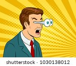 businessman with popping eyes... | Shutterstock .eps vector #1030138012