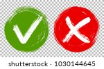 tick and cross signs  check... | Shutterstock .eps vector #1030144645