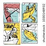 fishing club poster... | Shutterstock .eps vector #1030148932
