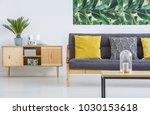 wooden cupboard standing next... | Shutterstock . vector #1030153618