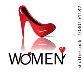 women red shoes icon  | Shutterstock .eps vector #1030154182