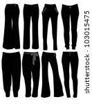 women's pants | Shutterstock .eps vector #103015475