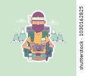 travel  hiking  backpacking ... | Shutterstock .eps vector #1030162825