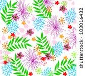 flower | Shutterstock .eps vector #103016432